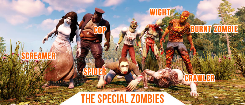 7 Days To Die Special Zombies